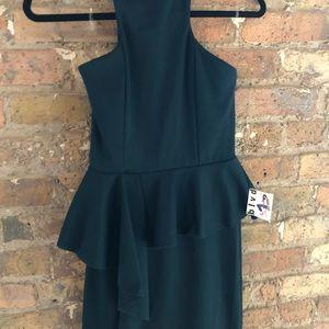 Halter Peplum Dress